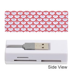 Scales3 White Marble & Red Colored Pencil (r) Memory Card Reader (stick)  by trendistuff