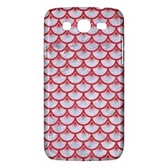 Scales3 White Marble & Red Colored Pencil (r) Samsung Galaxy Mega 5 8 I9152 Hardshell Case  by trendistuff