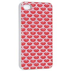 Scales3 White Marble & Red Colored Pencil Apple Iphone 4/4s Seamless Case (white) by trendistuff