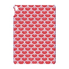 Scales3 White Marble & Red Colored Pencil Apple Ipad Pro 10 5   Hardshell Case