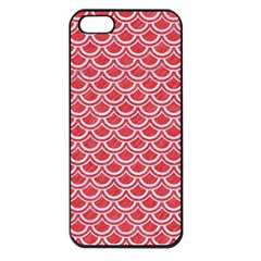 Scales2 White Marble & Red Colored Pencil Apple Iphone 5 Seamless Case (black) by trendistuff