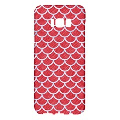 Scales1 White Marble & Red Colored Pencil Samsung Galaxy S8 Plus Hardshell Case