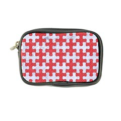 Puzzle1 White Marble & Red Colored Pencil Coin Purse by trendistuff
