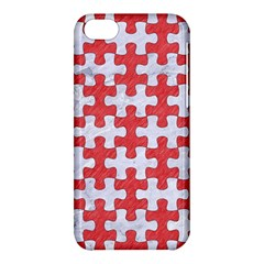 Puzzle1 White Marble & Red Colored Pencil Apple Iphone 5c Hardshell Case by trendistuff