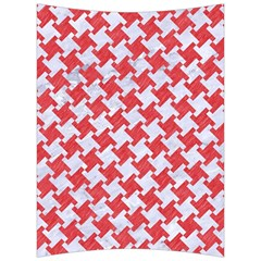 Houndstooth2 White Marble & Red Colored Pencil Back Support Cushion