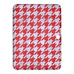 Houndstooth1 White Marble & Red Colored Pencil Samsung Galaxy Tab 4 (10 1 ) Hardshell Case  by trendistuff