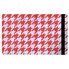 Houndstooth1 White Marble & Red Colored Pencil Apple Ipad Pro 12 9   Flip Case