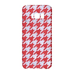 Houndstooth1 White Marble & Red Colored Pencil Samsung Galaxy S8 Hardshell Case
