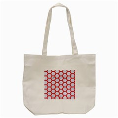 Hexagon2 White Marble & Red Colored Pencil (r) Tote Bag (cream) by trendistuff
