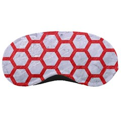 Hexagon2 White Marble & Red Colored Pencil (r) Sleeping Masks by trendistuff