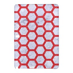 Hexagon2 White Marble & Red Colored Pencil (r) Samsung Galaxy Tab Pro 12 2 Hardshell Case by trendistuff