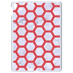 Hexagon2 White Marble & Red Colored Pencil (r) Apple Ipad Pro 9 7   White Seamless Case by trendistuff