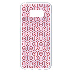 Hexagon1 White Marble & Red Colored Pencil (r) Samsung Galaxy S8 Plus White Seamless Case