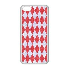 Diamond1 White Marble & Red Colored Pencil Apple Iphone 5c Seamless Case (white) by trendistuff