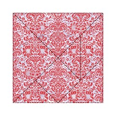 Damask2 White Marble & Red Colored Pencil (r) Acrylic Tangram Puzzle (6  X 6 ) by trendistuff