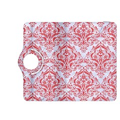Damask1 White Marble & Red Colored Pencil (r) Kindle Fire Hdx 8 9  Flip 360 Case by trendistuff