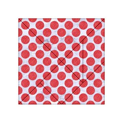 Circles2 White Marble & Red Colored Pencil (r) Acrylic Tangram Puzzle (4  X 4 ) by trendistuff