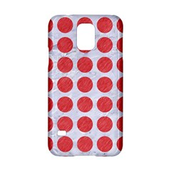 Circles1 White Marble & Red Colored Pencil (r) Samsung Galaxy S5 Hardshell Case  by trendistuff