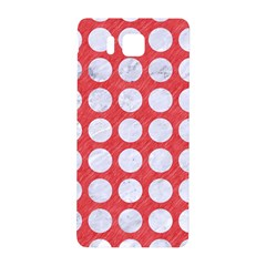 Circles1 White Marble & Red Colored Pencil Samsung Galaxy Alpha Hardshell Back Case by trendistuff
