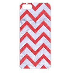 Chevron9 White Marble & Red Colored Pencil (r) Apple Iphone 5 Seamless Case (white) by trendistuff
