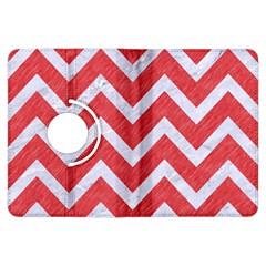 Chevron9 White Marble & Red Colored Pencil Kindle Fire Hdx Flip 360 Case by trendistuff