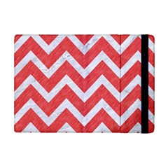 Chevron9 White Marble & Red Colored Pencil Ipad Mini 2 Flip Cases by trendistuff