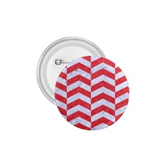 Chevron2 White Marble & Red Colored Pencil 1 75  Buttons by trendistuff