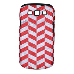 Chevron1 White Marble & Red Colored Pencil Samsung Galaxy S Iii Classic Hardshell Case (pc+silicone)