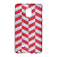 Chevron1 White Marble & Red Colored Pencil Galaxy Note Edge by trendistuff