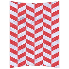 Chevron1 White Marble & Red Colored Pencil Back Support Cushion by trendistuff