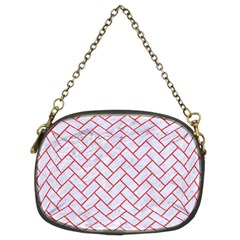 Brick2 White Marble & Red Colored Pencil (r) Chain Purses (two Sides)  by trendistuff