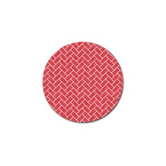 Brick2 White Marble & Red Colored Pencil Golf Ball Marker (10 Pack) by trendistuff