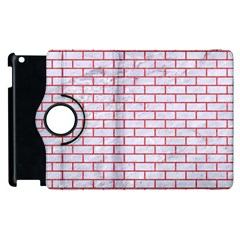 Brick1 White Marble & Red Colored Pencil (r) Apple Ipad 3/4 Flip 360 Case by trendistuff