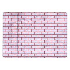 Brick1 White Marble & Red Colored Pencil (r) Samsung Galaxy Tab 10 1  P7500 Flip Case by trendistuff