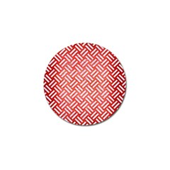 Woven2 White Marble & Red Brushed Metal Golf Ball Marker (4 Pack) by trendistuff