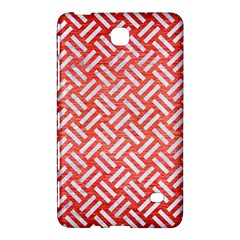 Woven2 White Marble & Red Brushed Metal Samsung Galaxy Tab 4 (8 ) Hardshell Case  by trendistuff