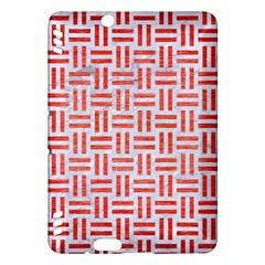 Woven1 White Marble & Red Brushed Metal (r) Kindle Fire Hdx Hardshell Case by trendistuff