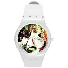 Skull 2 Round Plastic Sport Watch (m) by bestdesignintheworld