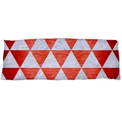 Triangle3 White Marble & Red Brushed Metal Body Pillow Case (dakimakura) by trendistuff