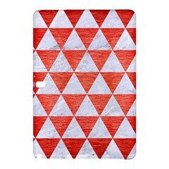 Triangle3 White Marble & Red Brushed Metal Samsung Galaxy Tab Pro 12 2 Hardshell Case by trendistuff