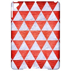 Triangle3 White Marble & Red Brushed Metal Apple Ipad Pro 9 7   Hardshell Case