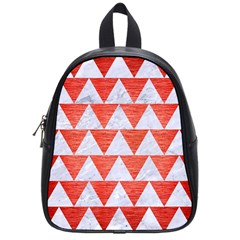 Triangle2 White Marble & Red Brushed Metal School Bag (small) by trendistuff