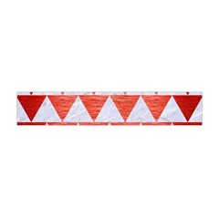 Triangle2 White Marble & Red Brushed Metal Flano Scarf (mini) by trendistuff