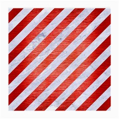 Stripes3 White Marble & Red Brushed Metal (r) Medium Glasses Cloth by trendistuff