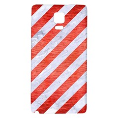 Stripes3 White Marble & Red Brushed Metal (r) Galaxy Note 4 Back Case by trendistuff