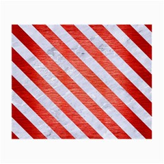 Stripes3 White Marble & Red Brushed Metal Small Glasses Cloth by trendistuff