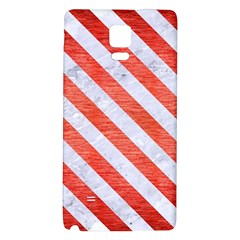 Stripes3 White Marble & Red Brushed Metal Galaxy Note 4 Back Case by trendistuff
