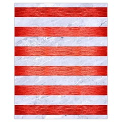 Stripes2white Marble & Red Brushed Metal Drawstring Bag (small) by trendistuff