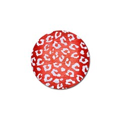 Skin5 White Marble & Red Brushed Metal (r) Golf Ball Marker (4 Pack) by trendistuff