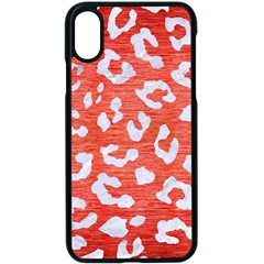 Skin5 White Marble & Red Brushed Metal (r) Apple Iphone X Seamless Case (black)